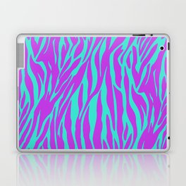 Purple and Green Zebra print Laptop & iPad Skin