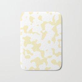 Large Spots - White and Blond Yellow Bath Mat