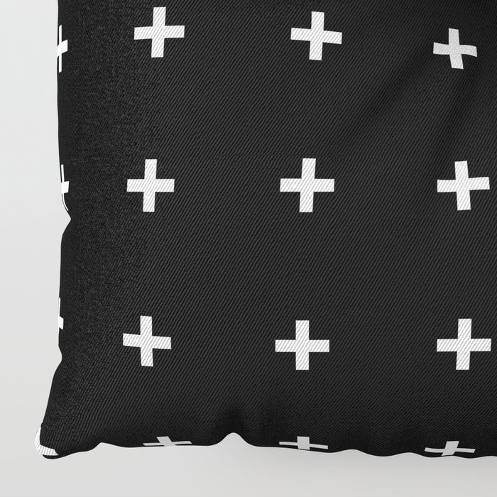 White Plus on Black /// www.pencilmeinstationery.com Floor Pillow
