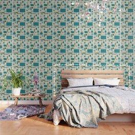 Mid-Century Modern (teal) Wallpaper