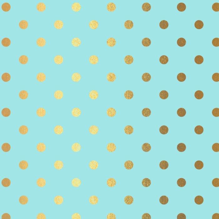Gold Polka Dots On Aqua Background Luxury Turquoise