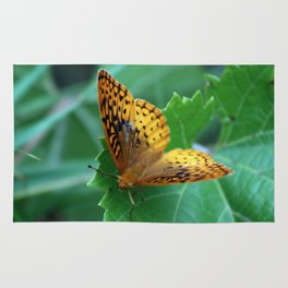 Great Spangled Fritillary Butterfly Rug