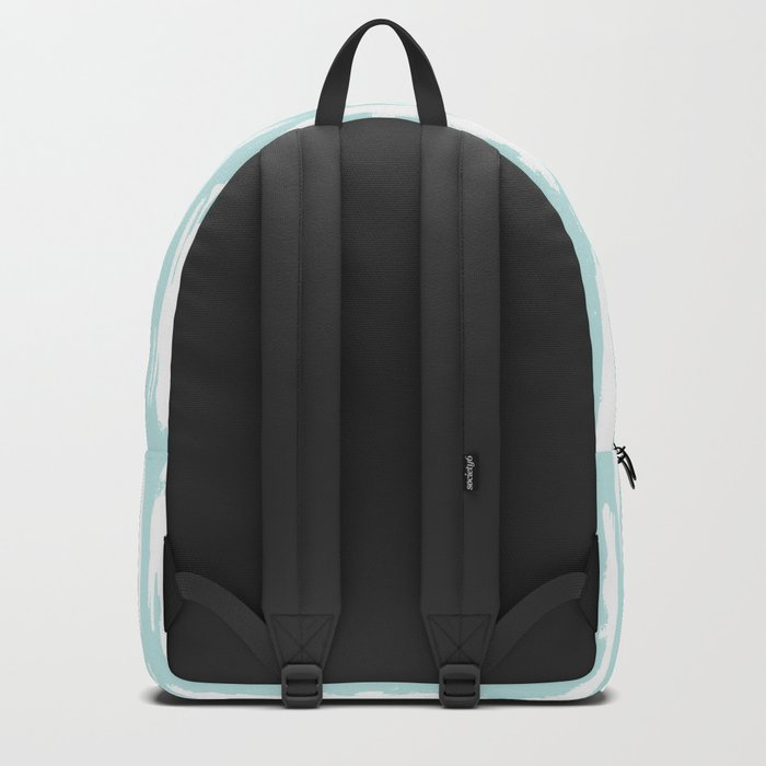 Vertical Dash Stripes White on Succulent Blue Backpack