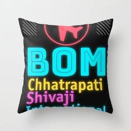 BOM Chhatrapati Shivaji International Airport Throw Pillow