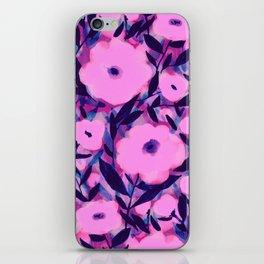 Layered Leaf Floral Pink iPhone Skin