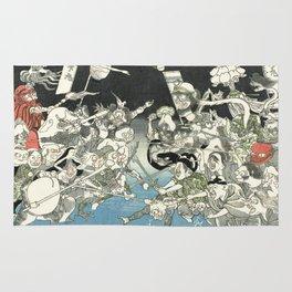 Demons - Vintage Japanese Woodblock Print Rug