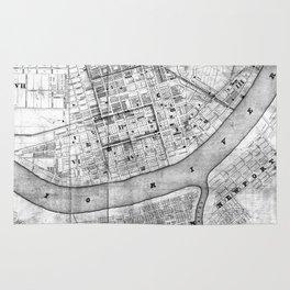 Vintage Map of Cincinnati Ohio (1838) BW Rug