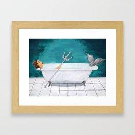 Mermaid Bath Framed Art Print