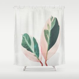 Pink Leaves I Shower Curtain