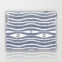 Indigo Pattern - Indigo / Navy & White Laptop & iPad Skin