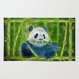 abstract panda Rug