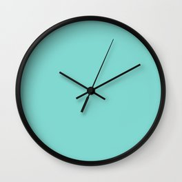 Sea Green Blue - Solid Color Collection Wall Clock