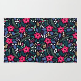 Seamless Floral Pattern Rug