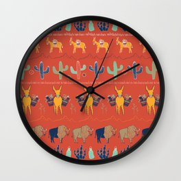 Red River Roundup Pattern Wall Clock