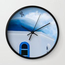 Greek Orthodox Church Oia Santorini Greece Wall Clock