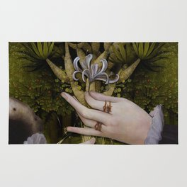 """""""The hands of Bosch and the Spring"""" Rug"""