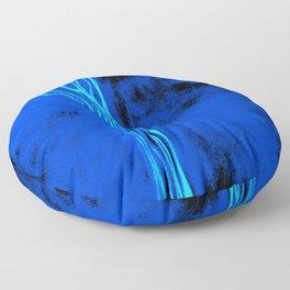 Blue Fall Tree Floor Pillow