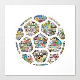 Philately Soccer Ball Canvas Print