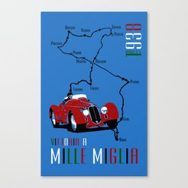 Mille Miglia 1938 Canvas Print