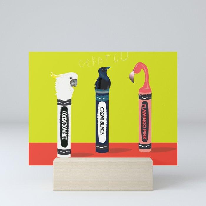 Crayons for the Birds Mini Art Print