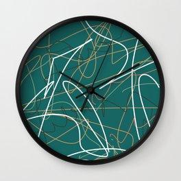 Unreadable I Wall Clock