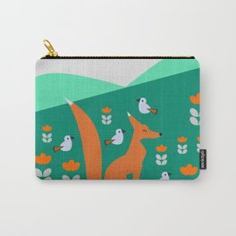Spring day with fox and birds Carry-All Pouch