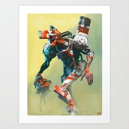 Robot X Robot Art Print
