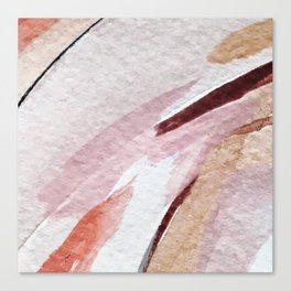 Away [2]: an abstract mixed media piece in pinks and reds Canvas Print