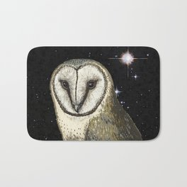 Owl in the Universe Bath Mat