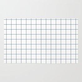 Chek - check grid simple minimal black and white modern urban brooklyn nashville hipster gifts Rug