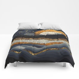 Metallic Mountains Comforters