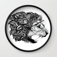 leon Wall Clocks featuring Leon by Artful Schemes