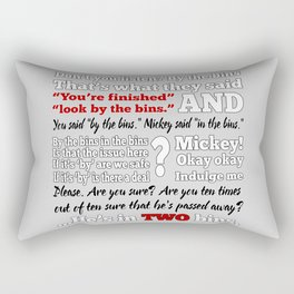 In the Bins Rectangular Pillow