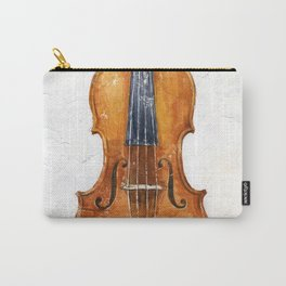 Violin (watercolor on textured background) Carry-All Pouch