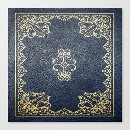 Gilded Gold and Blue Book Canvas Print