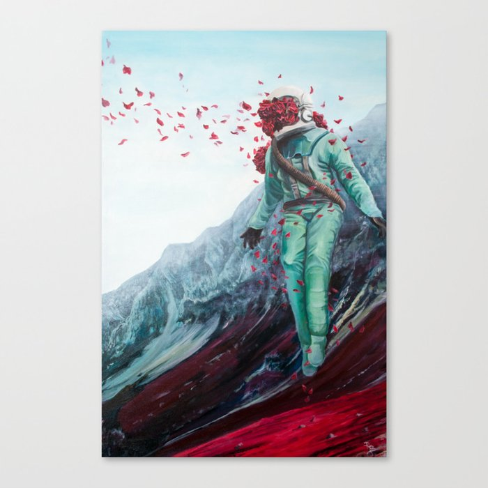 Floral Astronaut Canvas Print