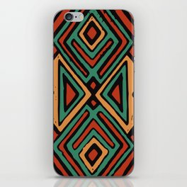 Red earth geometric pattern iPhone Skin