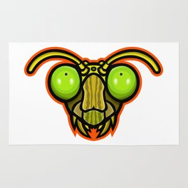 Praying Mantis Mascot Rug