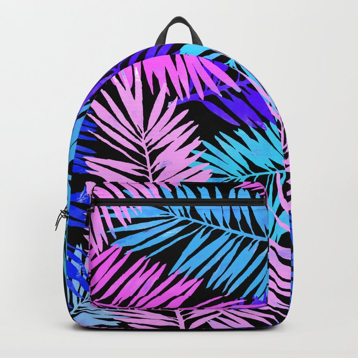 Colorful Tropical Palm Leaves Backpack