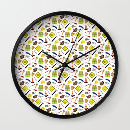 Safety First PPE and Hand Tools white Wall Clock