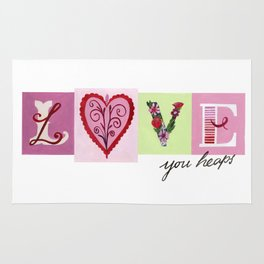 LOVE letters - LOVE you heaps Rug