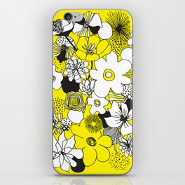 Floral Medley - Yellow iPhone Skin
