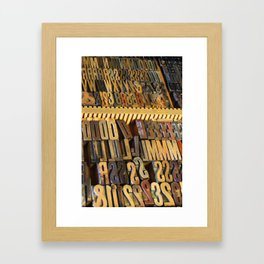 Type Drawer Framed Art Print
