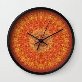 Red Burst Mandala 0118 Wall Clock