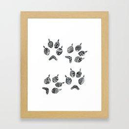 fox tracks Framed Art Print