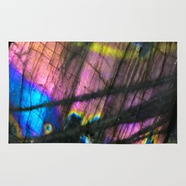 Labradorite and All it's Colors Blue Pink Yellow Purple Flash Magic Vibrant Abundance Rug