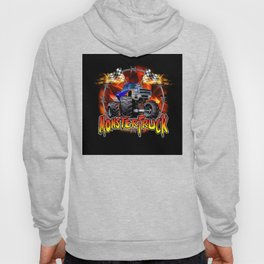 Monster Truck blue on Fire                                          Hoody