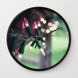 Pink Lights Wall Clock