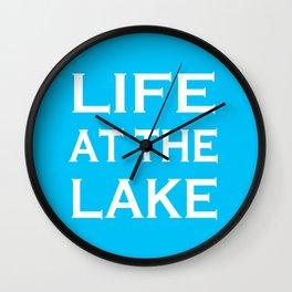 Life At The Lake - Summer Blue and White Wall Clock