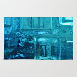 355 - Abstract Design through the Blue Bottle Rug